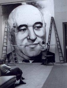 01 rákosi kép festése a főiskolán 1950 k.