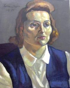 Lossonczy Tamás: Női portré, 1950
