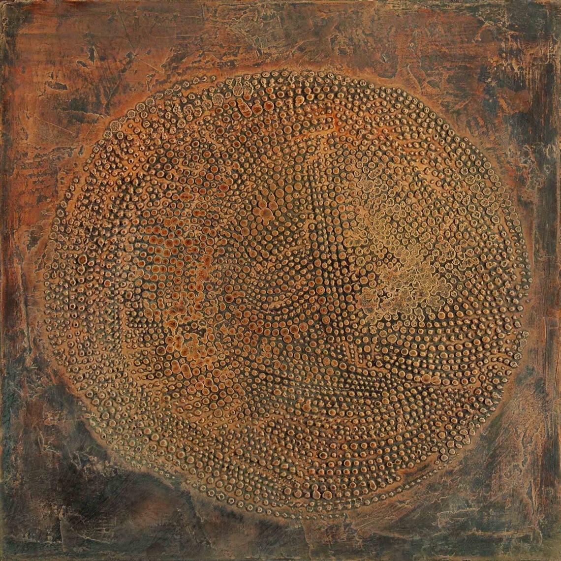 Bátai Sándor_Kezdet,2009,olaj,papír,40x40cm (2)