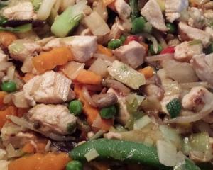 hús és zöldség