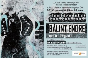 Álomtöredékek - Bálint Endre monotípiái kiállítás meghívó