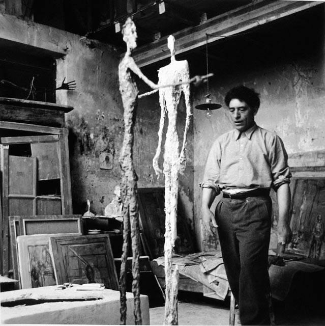 Giacometti in his atelier