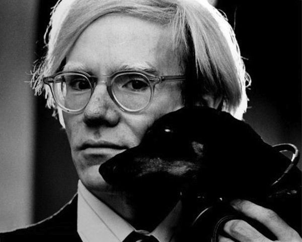 Andy Warhol and Archie his dachshund