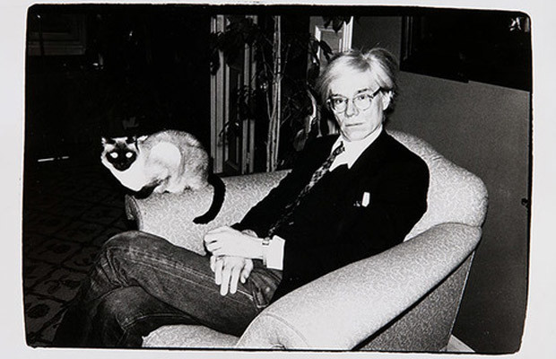Andy Warhol and his cat Sam