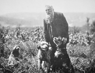 Auguste Rodin with Hounds