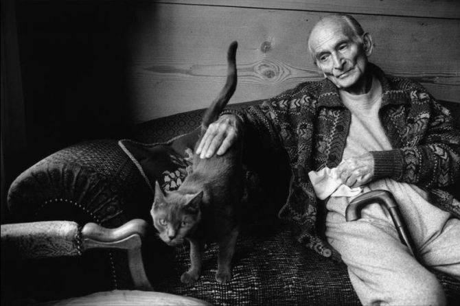 Balthus with his cat