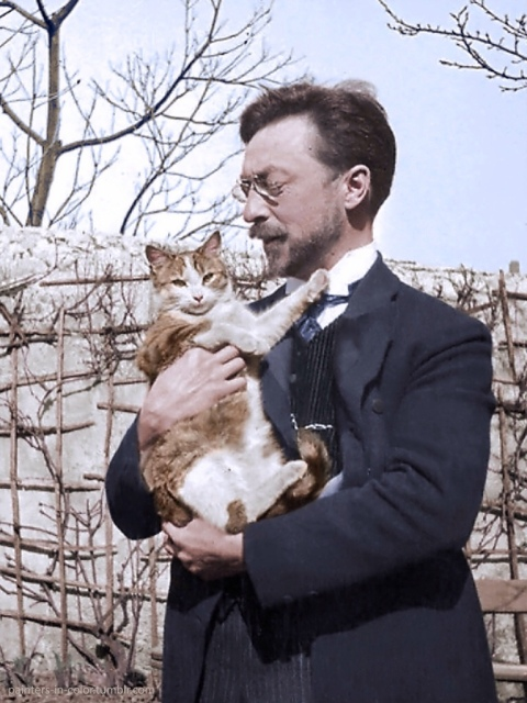 kandinszky with cat_colorized