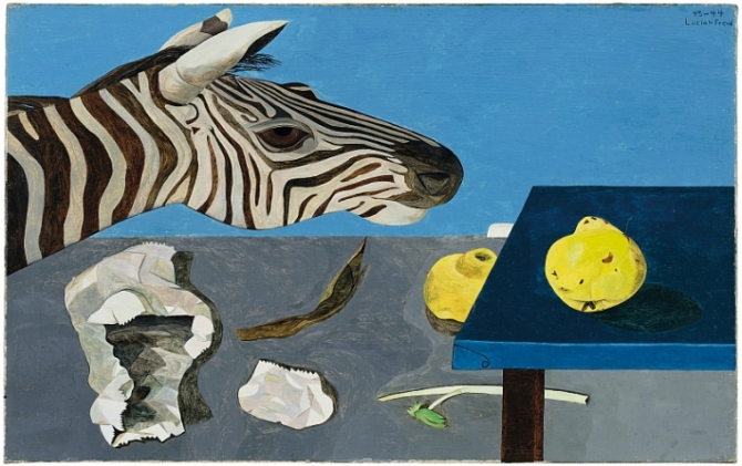 Lucian Freud, Quince on a blue Table, 1943-44. The Lambrecht-Schadeberg Collection _ Winners of the Rubens Prize of the City of Siegen