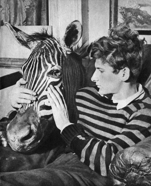 Lucian Freud with Zebra Head, ca. 1943, courtesy of Tate Modern