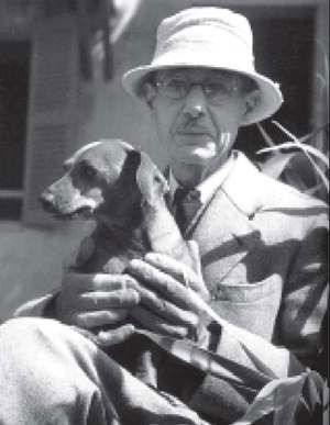 Pierre Bonnard with his dog