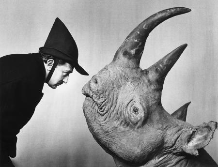 Salvador Dalí Rhino 1952 Photo by Phillippe Halsman