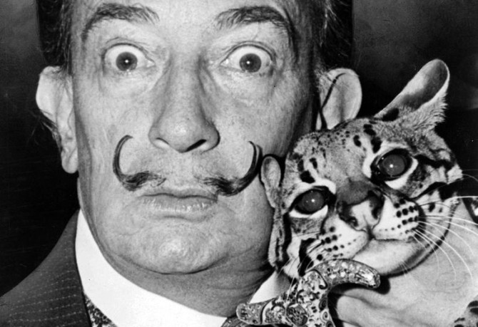 Salvador_Dali_with wildcat