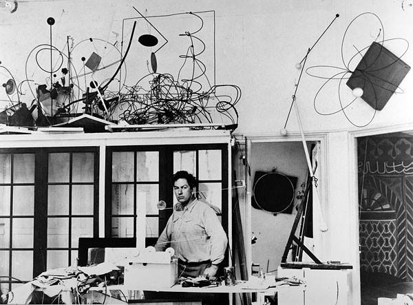 Alexander Calder in his atelier 14 Rue de la Colonie - 1931