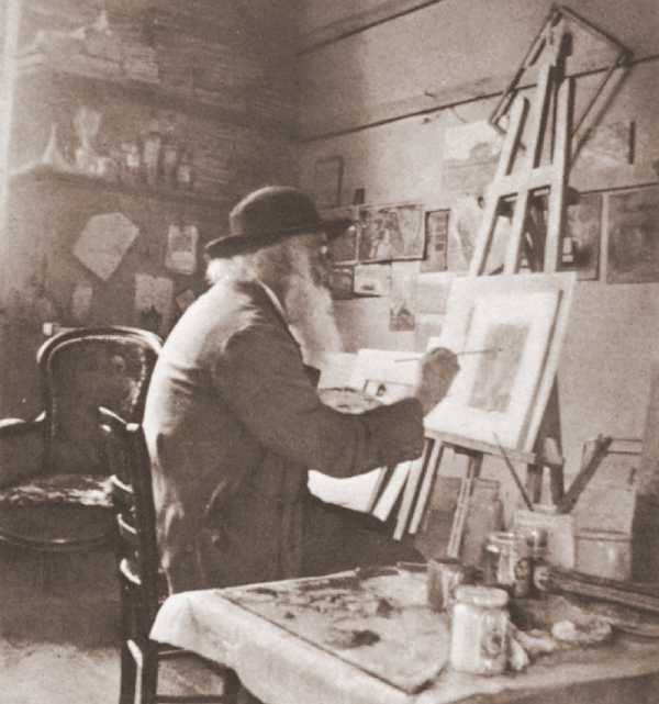 Camille Pissarro in his studio at Eragny cc.1897