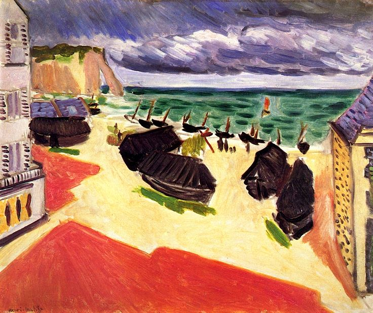 Fishing Boats in Winter, Etretat Henri Matisse - 1921 Winter, 1921