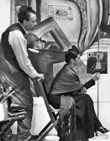 Frida Kahlo and Diego Rivera, Detroit 1933