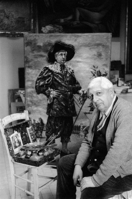 Giorgio de Chirico at his studio - Rome, 1959 _Magnum Photos photo by Burt Glinn