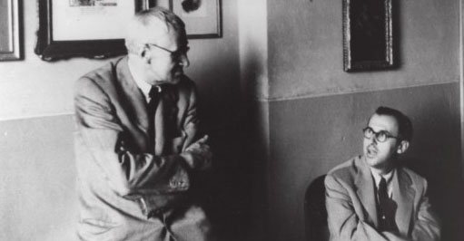 Giorgio Morandi e Cesare Gnudi in via Fondazza Centro Studi Giorgio Morandi, Bologna
