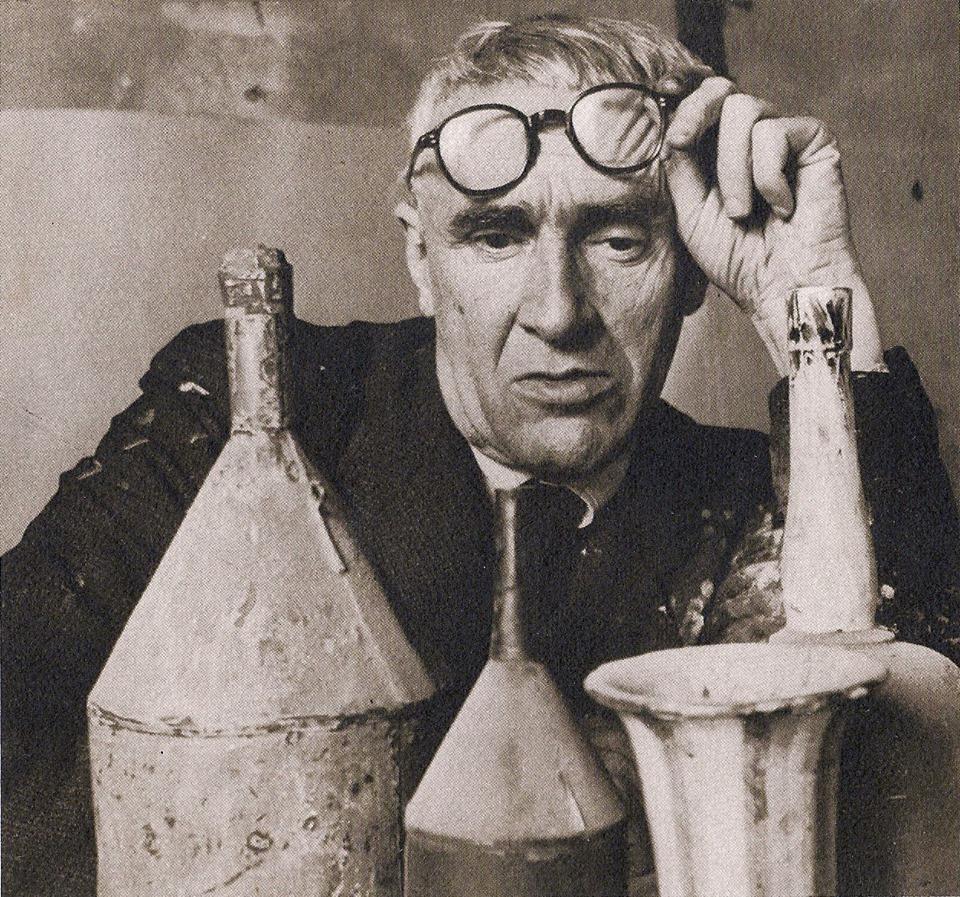 Giorgio Morandi in his studio - Bologna, 1953 - photo by Herbert List