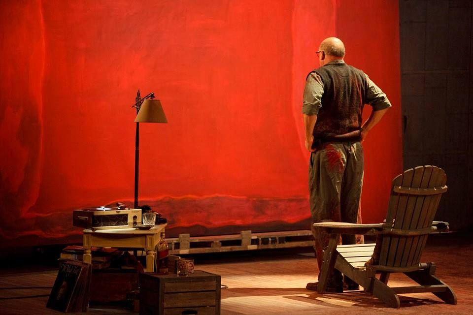 Marc Rothko working in his studio