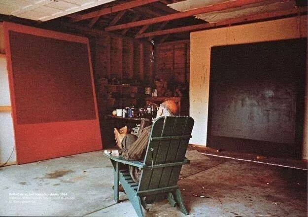 Mark Rothko in his atelier