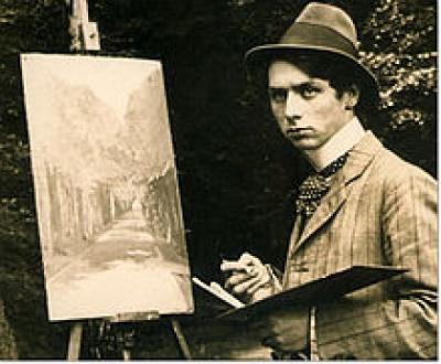 Max Ernst im Brühler Schlosspark 1909