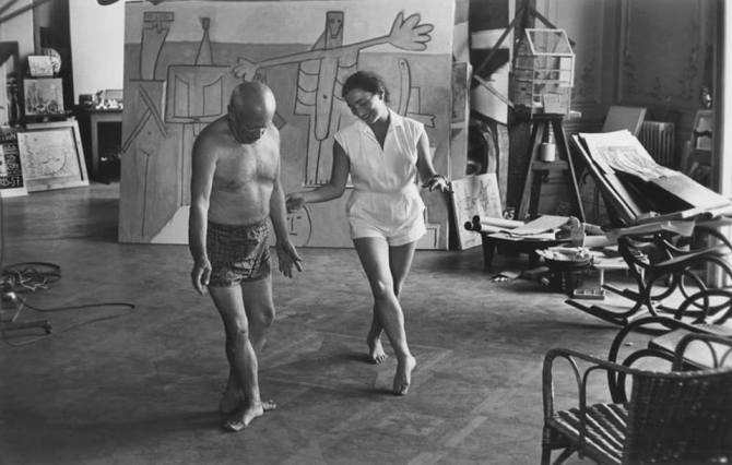 Pablo Picasso and Jaqueline dancing Cannes, 1957 photo by David Douglas Duncan