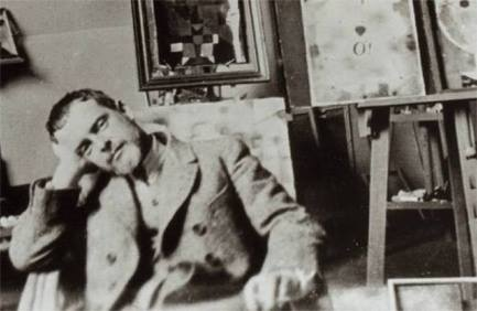 Paul Klee in his studio cc. 1921