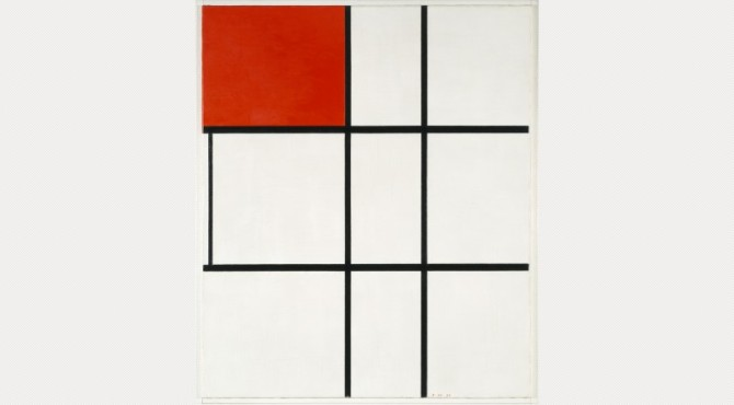 Piet Mondrian, Composition B (No.11) with Red, 1933