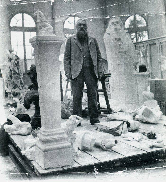 Rodin in his atelier 1905