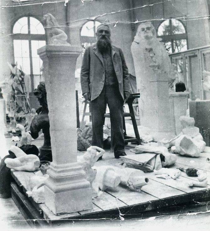 Rodin in his atelier 1905
