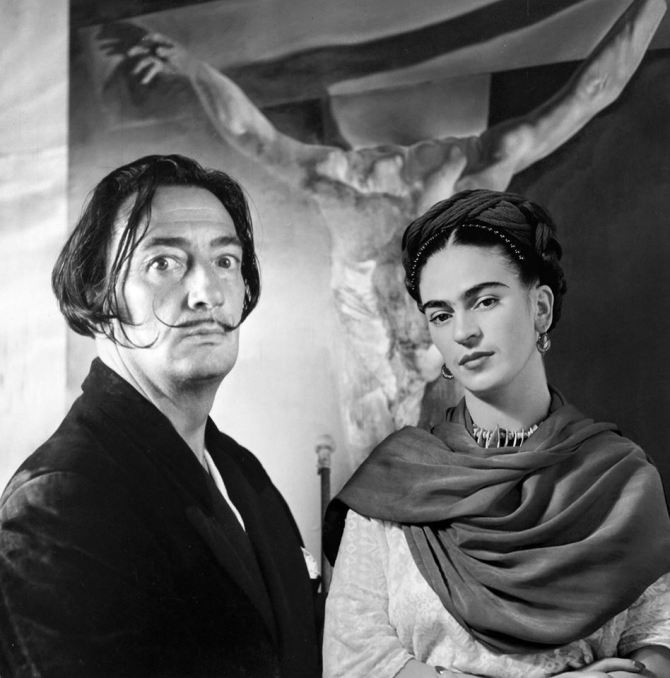 Salvador Dalí and Frida Kahlo