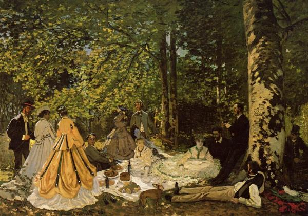 01. Luncheon on the Grass Claude Monet 1865 oil on canvas 130 x 181 cm, The Pushkin Museum of Fine Arts, Moscow Russia