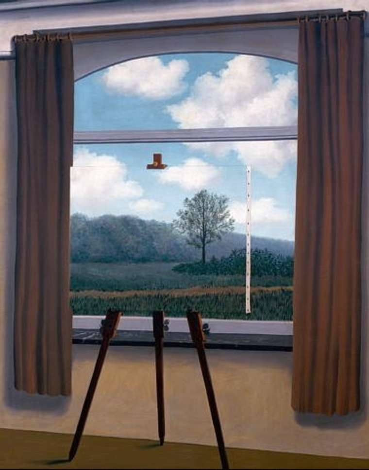 03. René Magritte The Human Condition 1933 oil on canvas 100x81 cm National Gallery of Art, Washington DC