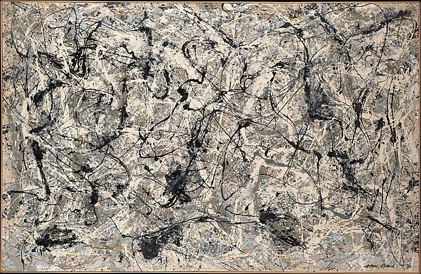 05. Jackson Pollock Number 28 - 1950 enamel on canvas 173x266.7 cm The MET NY