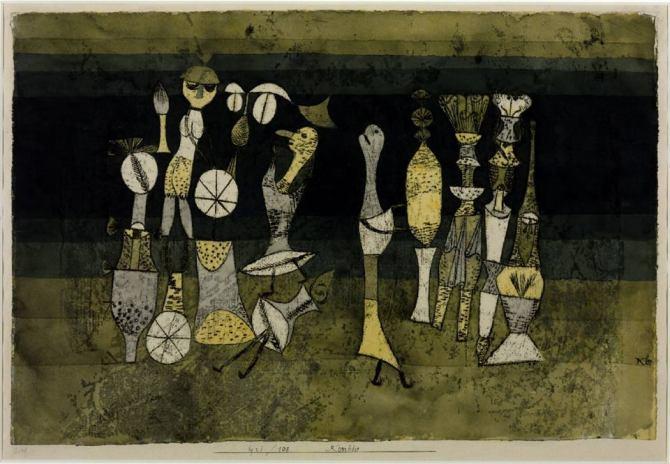 05. Paul Klee Comedy Komödie 1921 watercolor and oil on paper 305x454 mm Tate London
