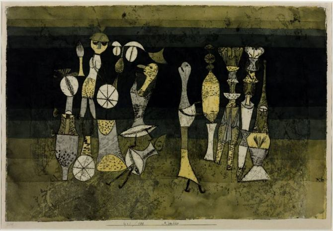 05. Paul Klee Comedy Komödie 1921 watercolor and oil on paper 305x454 mm Tate London