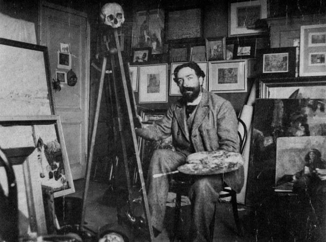 James Ensor in his atelier - 1895