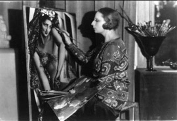 Tamara Lempicka portraits Nana de Herrera - Paris 1927_jó