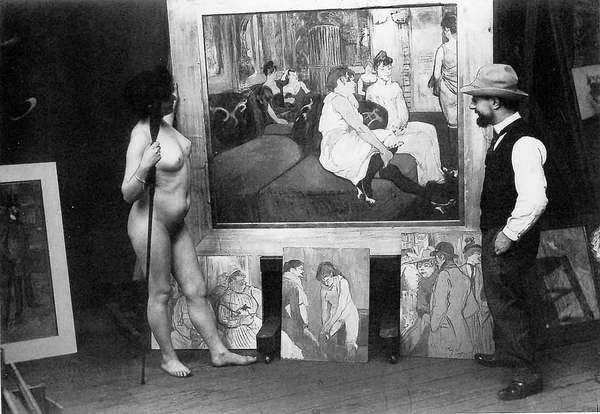 Toulouse Lautrec in his atelier - 1894