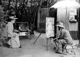 01 Henri Toulouse-Lautrec at work at Montmartre Paris 1889