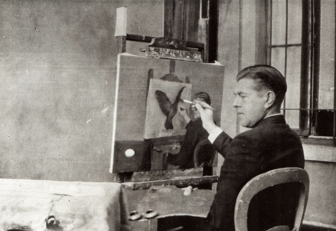 04 Jacqueline Nonkels - Rene Magritte paints Helderzeinheid 1936 by Cea.