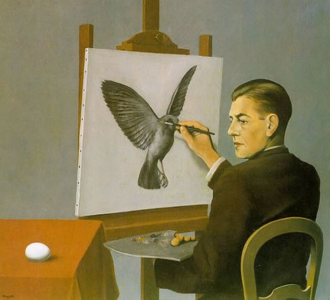04 René Magritte La Clarivoyance_ La Clarividencia_The Clairvoyance 1936 Private Collection