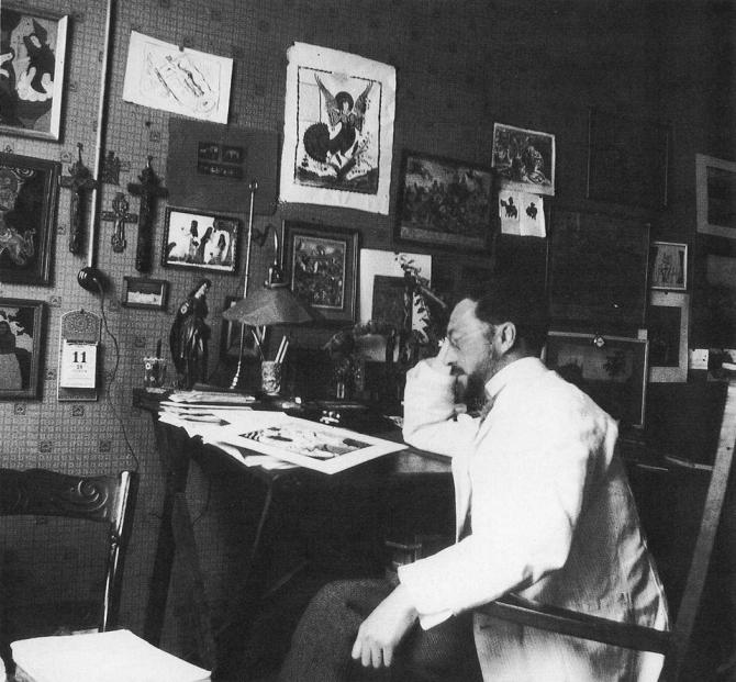 08 Wassily Kandinsky at his studio in München 1911