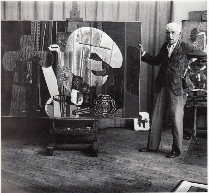 11 Georges Braque in his studio