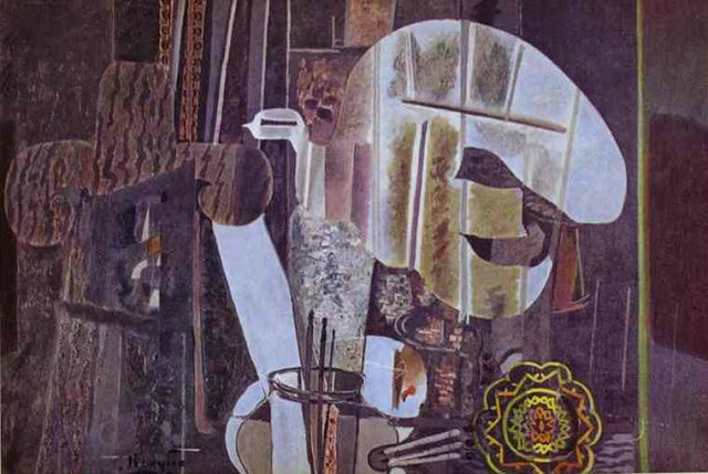 11 Georges Braque_L'Atelier - El estudio IV - The Studio IV 1950 oil on canvas, 130 x 195 cm Dr. Paul Sacher, Pratteln_ Basel, Switzerland
