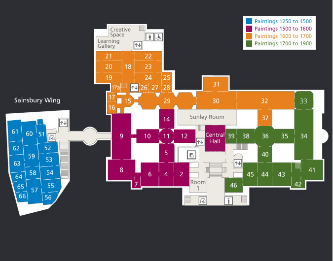 Floorplans of The National Gallery