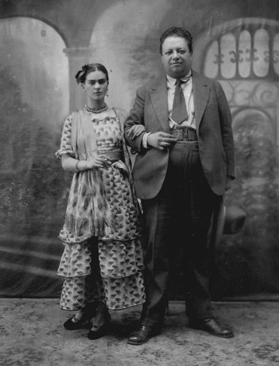 Frida and Diego's Wedding Photo, August 26, 1929