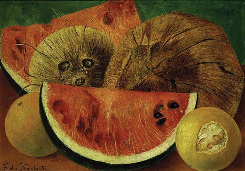 Frida-Kahlo-Coconuts 1951