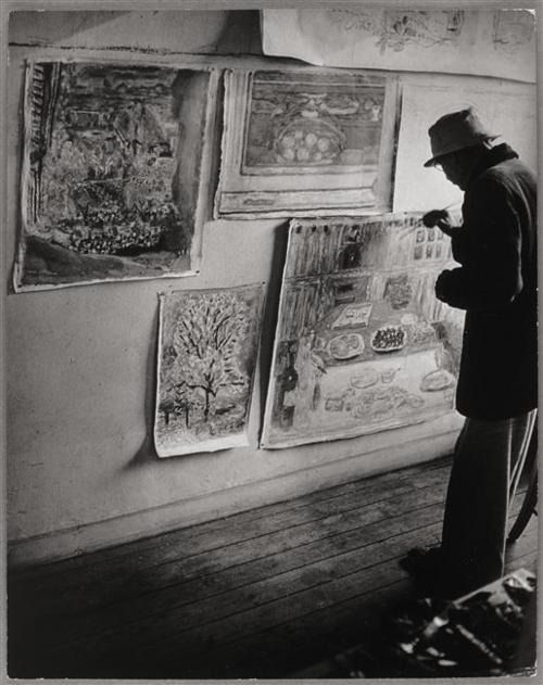 Pierre Bonnard in his studio Paris 1946 Brassaï Paris 1946